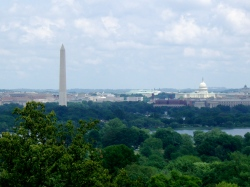 View of the national Mall from Arlington Cemetery