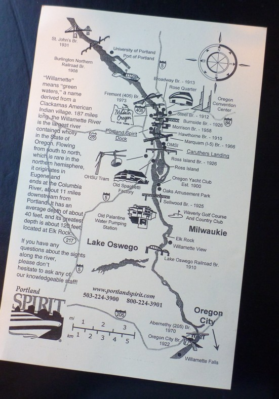 Map of Portland Spirit Cruising