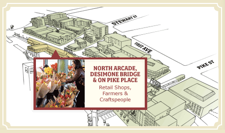 Map of Pike Place Market
