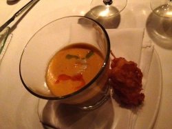 Island Prime's Lobster Bisque & Lobster Lolli Pop in San Diego, CA