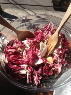 Radicchio Salad at Tasty and Sons in portland, OR