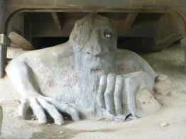 The Fremont Troll in Seattle, WA
