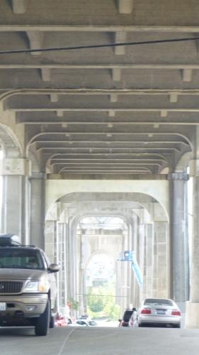 Beneath the Fremont Bridge in Seattle, WA
